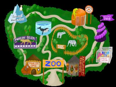 Miloš v zoo mapa